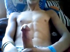 Hot jock is showing his dick on cam