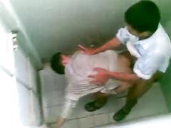 Public toilet smashing arab banging