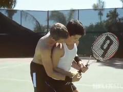 Tennis player seduced for an outdoor sex act