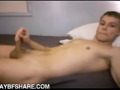 Flexible boy exposes his asshole and masturbates