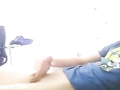 Very light porn video with gay boy masturbating