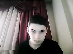 Beauty brunette guy is pleasuring webcam masturbation
