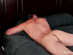 Horny boy gets ass probed from behind