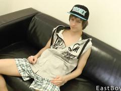Skinny teen gay is getting his dick pleasantly fondled