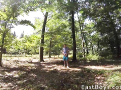 Gay beauty friends are taking walk at nature with camera