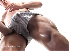 Beauty gay is having his dick pleasantly fondled by boyfriend