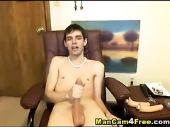 Scrawny twink got amazingly flexible body and huge cock