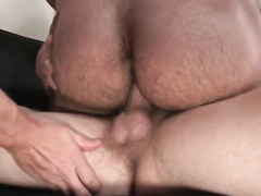 Three young twinks boyfriends are enjoying gay anal threesome fuck