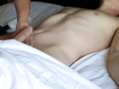 Tender relaxing massage makes this twink to hotly excite and cum