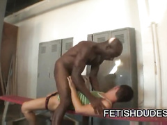 Fuck hungry gay Christian Mohr is experiencing rough interracial gay fuck